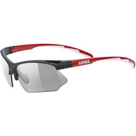 UVEX Sportstyle 802 V Sportglasses black red white/smoke